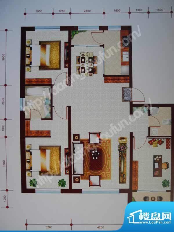乾和城B1户型 3室2厅面积:136.83m平米