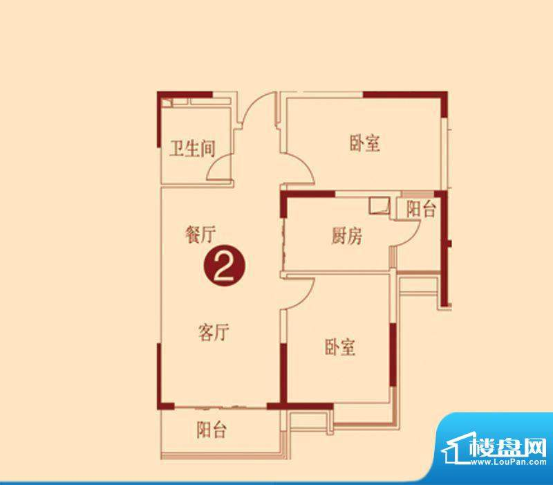 恒大绿洲11.12号楼一面积:92.29m平米