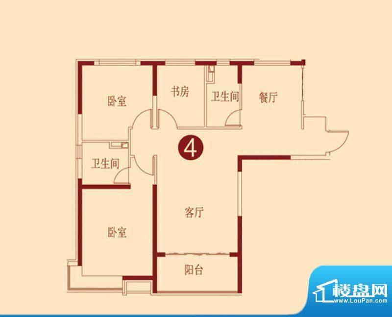 恒大绿洲11、12号楼面积:141.91m平米