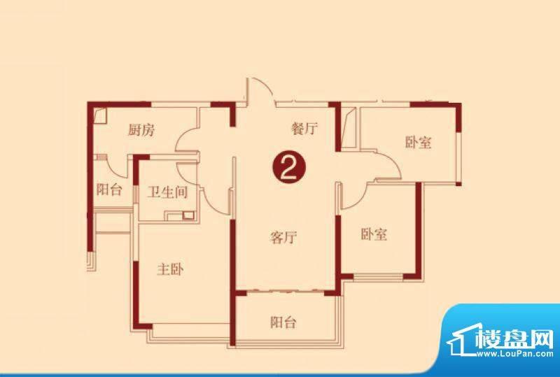 恒大绿洲2号楼一单元面积:106.79m平米