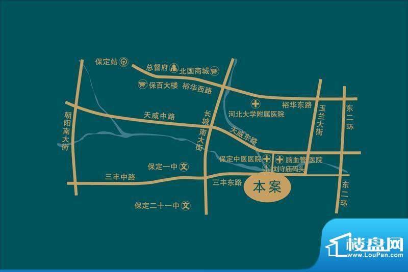 泰和福地水岸交通图