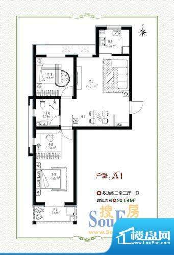 泰和福地水岸1号楼a面积:90.09m平米