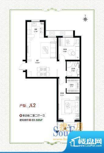 泰和福地水岸1号楼a面积:89.88m平米