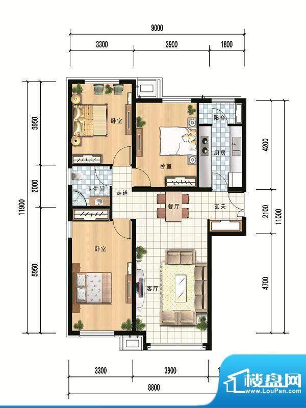 财富官邸A2--118.69面积:0.00m平米