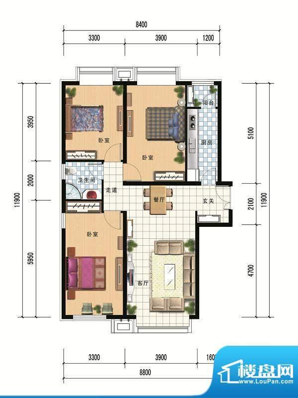 财富官邸A3--119.85面积:0.00m平米