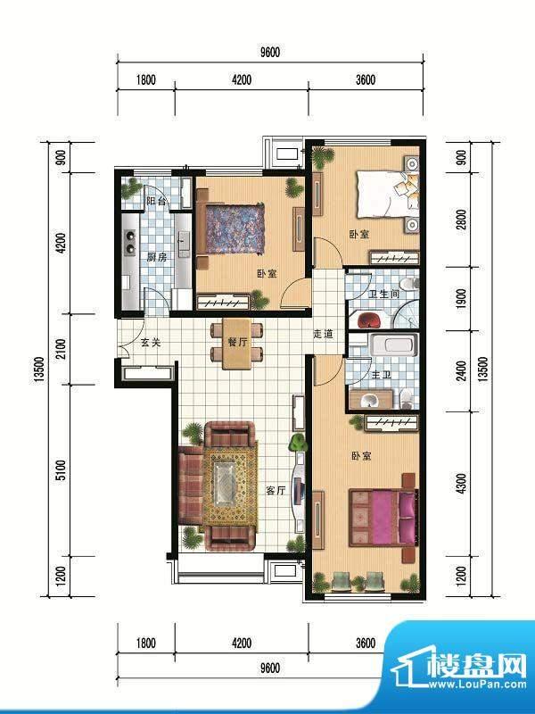 财富官邸A4--136.55面积:0.00m平米