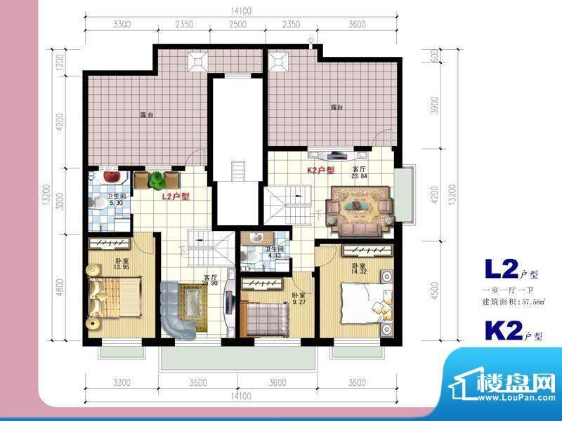安全苑·铭苑L2-阁楼面积:0.00m平米