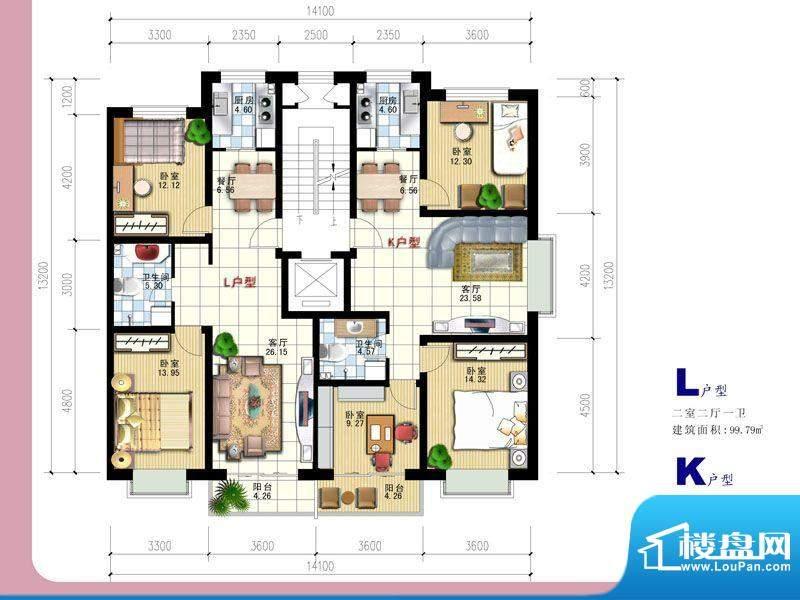 安全苑·铭苑L-K户型面积:0.00m平米