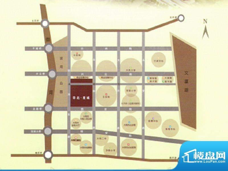 华北星城交通图