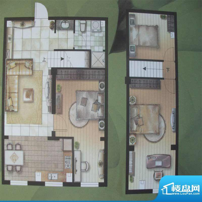 水木华庭F 户型 3室面积:90.00m平米