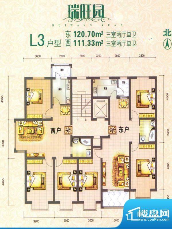 瑞旺园户型图10 面积:0.00m平米