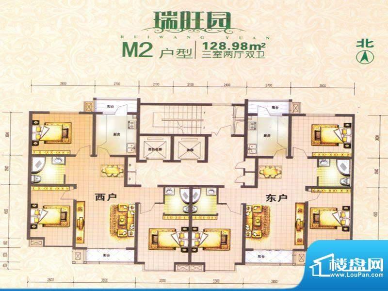 瑞旺园户型图11 面积:0.00m平米