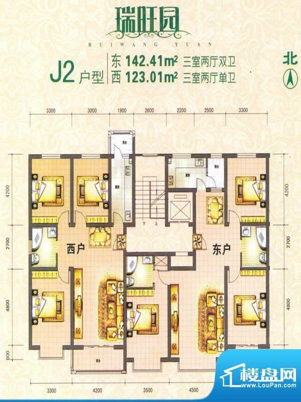 瑞旺园户型图4 面积:0.00m平米