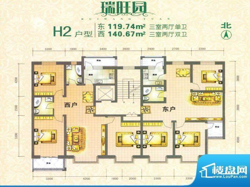 瑞旺园户型图1 面积:0.00m平米