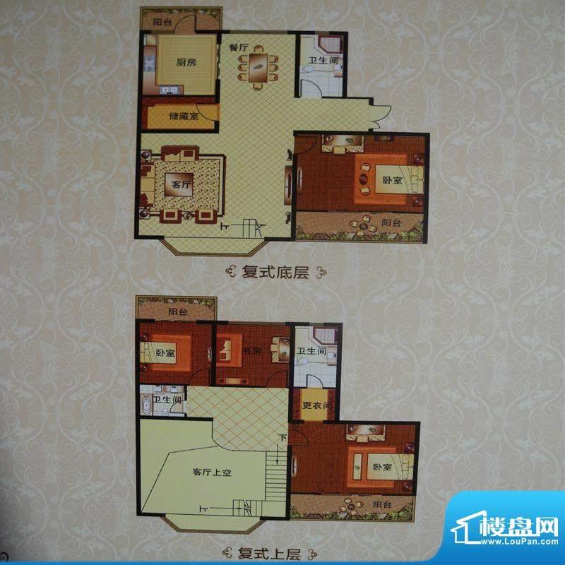 英伦三岛17F 4室2厅面积:276.87m平米