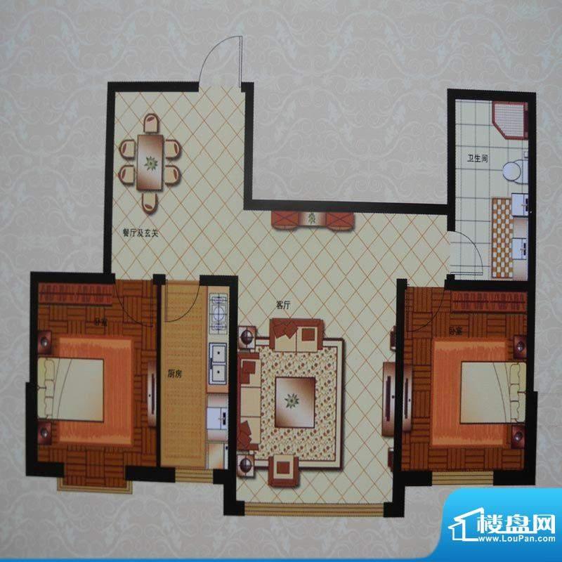 英伦三岛C2 2室2厅1面积:89.70m平米