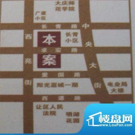 阳光嘉城二期交通图