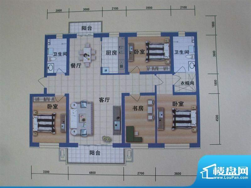 阳光嘉城二期G2户型面积:168.00m平米