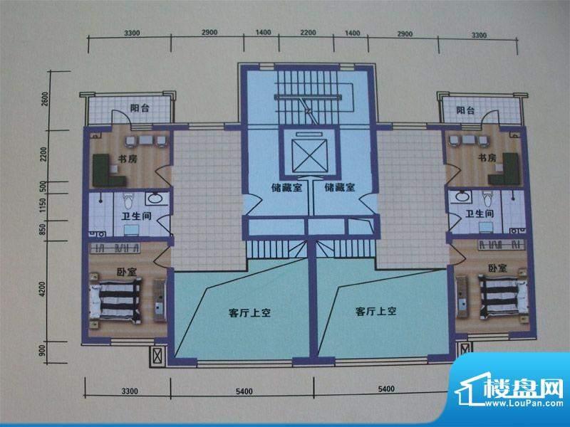 阳光嘉城二期C3户型面积:96.00m平米