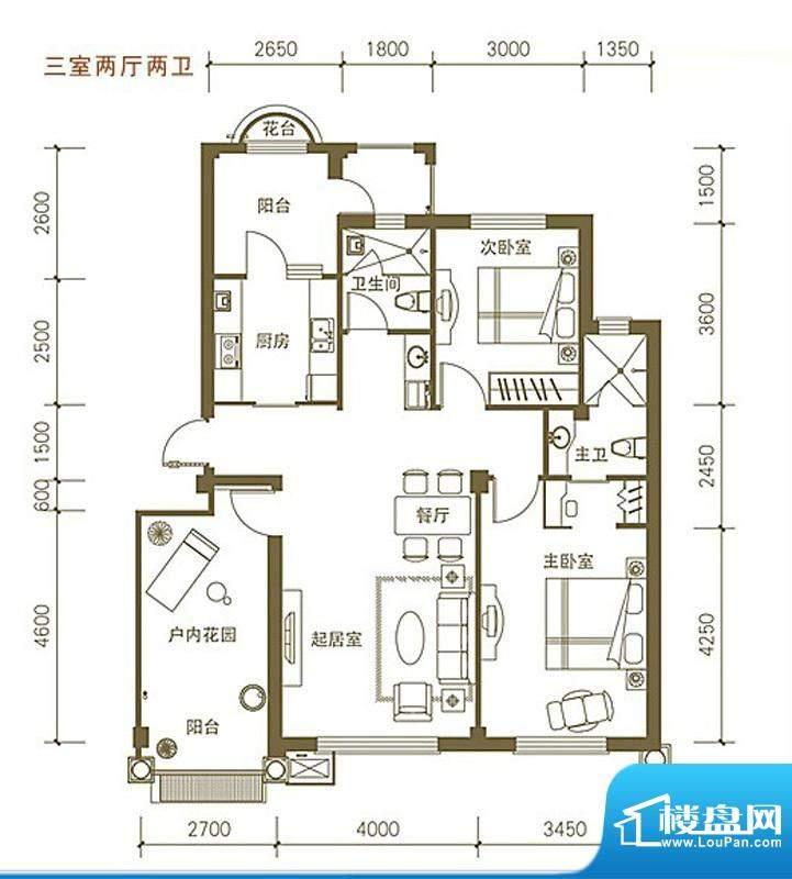 易和岭秀滨城4号、8面积:120.00平米