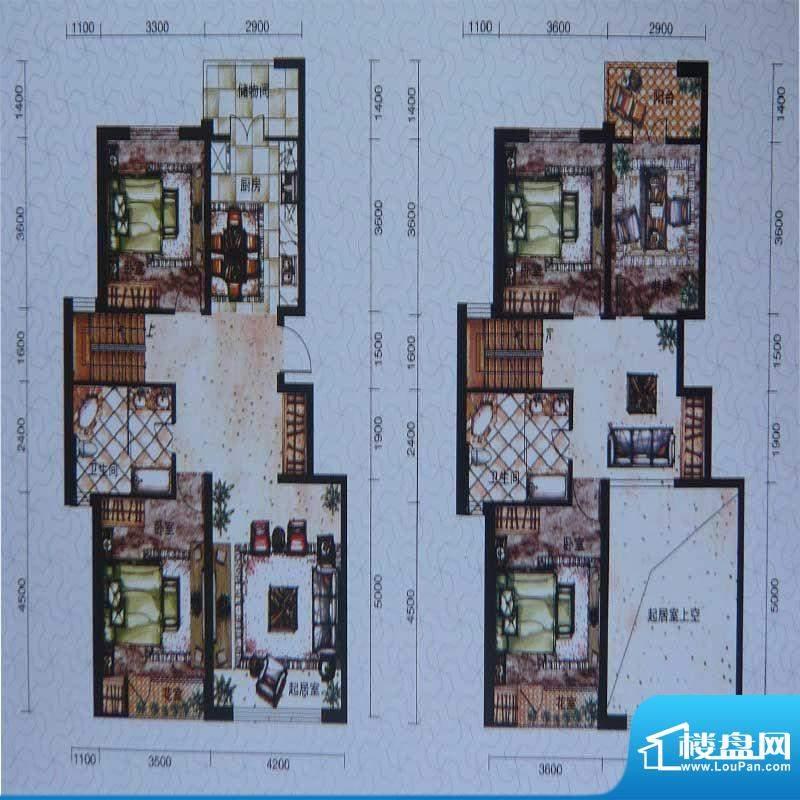 柏林春天复式 3室2厅面积:106.00m平米