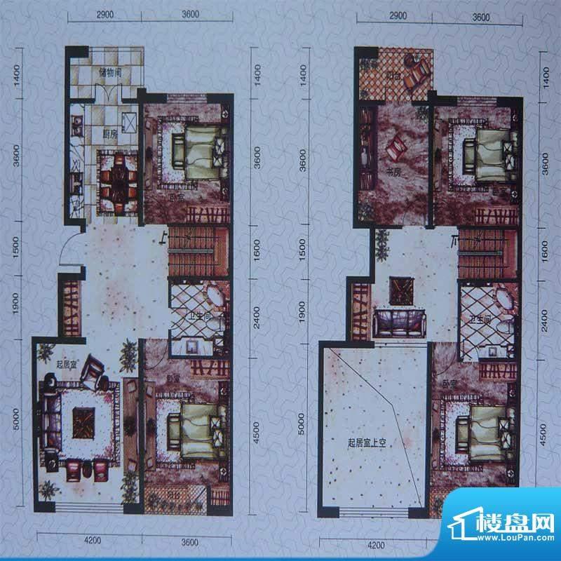 柏林春天复式 4室2厅面积:103.00m平米