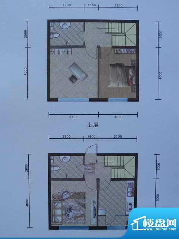 宜和园F户型 2室1厅面积:96.86m平米