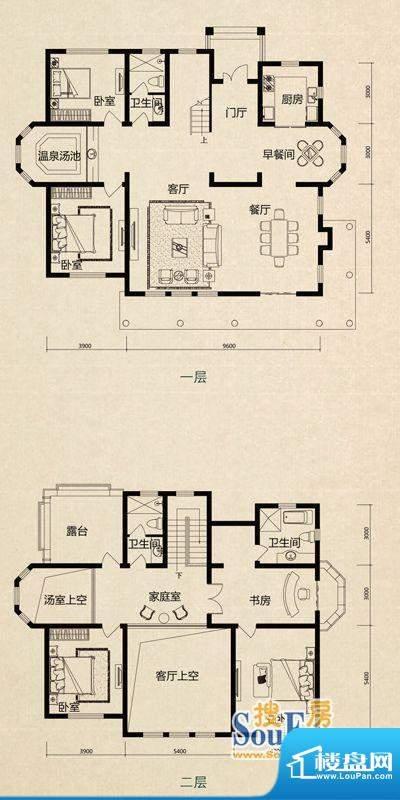 美芦庄园C3户型 4室面积:306.15m平米