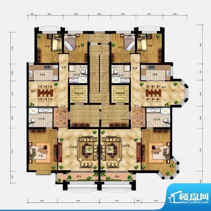 璟峯汇户型 A1A2 面积:0.00m平米