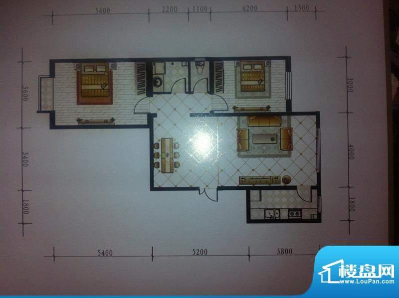 水泉文苑户型图 2室面积:0.00m平米