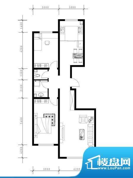水泉文苑b户型图 2室面积:116.11m平米