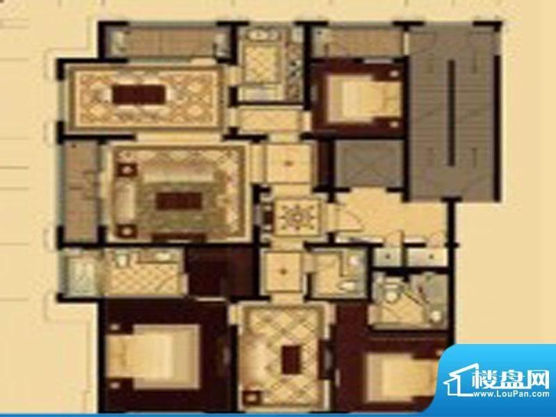 城投绿城诚园户型图面积:219.00m平米