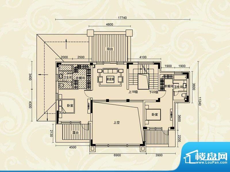 证大·紫金府A1 二层面积:120.94m平米