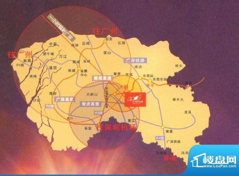 东方银座中心城御廷交通图