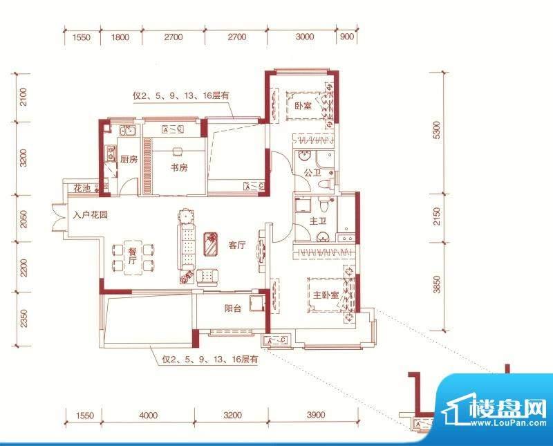 东方银座中心城御廷面积:108.00平米