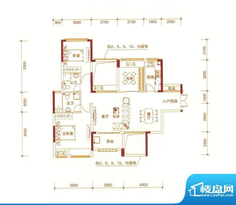 东方银座中心城御廷面积:110.00平米