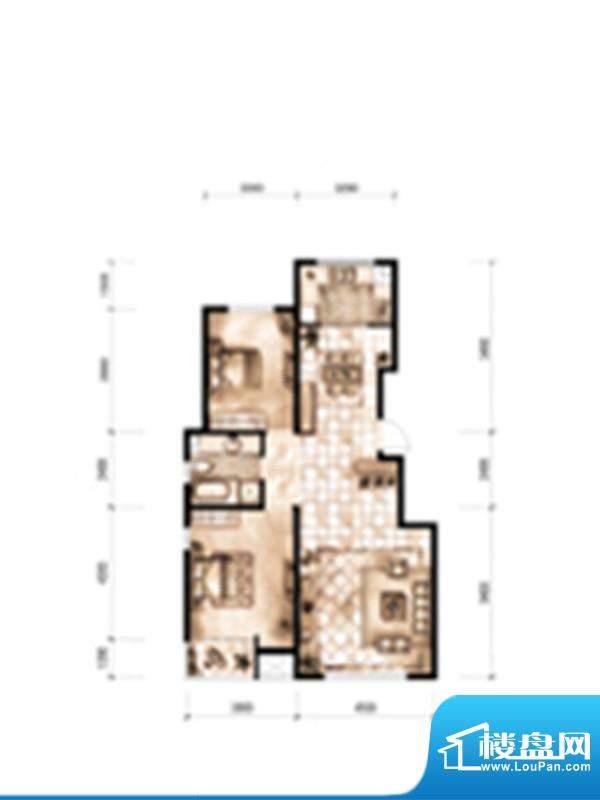 天誉丽景湾户型图2 面积:105.52m平米