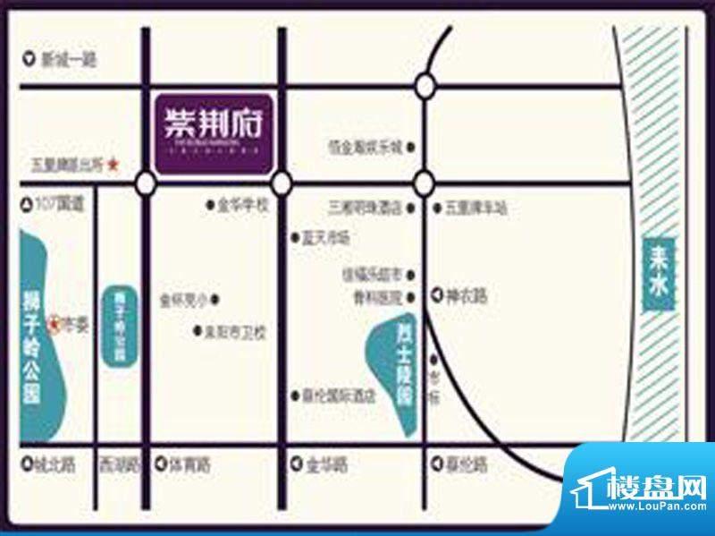紫荆府交通图