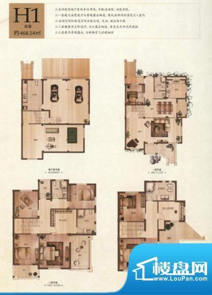 半岛领邸H1户型 7室面积:468.54m平米