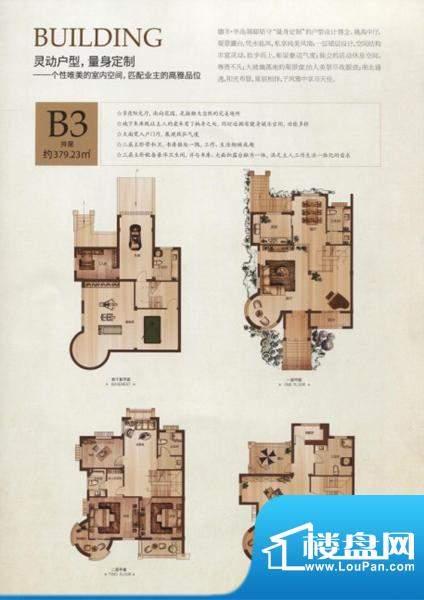 半岛领邸 户型图面积:379.23m平米