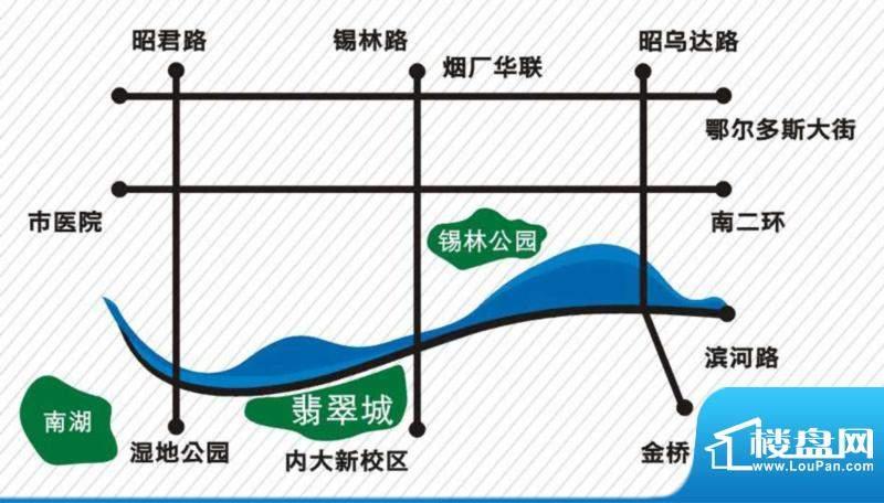 内大翡翠城交通图