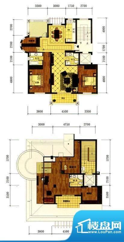 罗马风情城电梯花园面积:142.00m平米