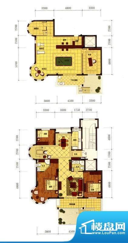 罗马风情城电梯花园面积:232.00m平米