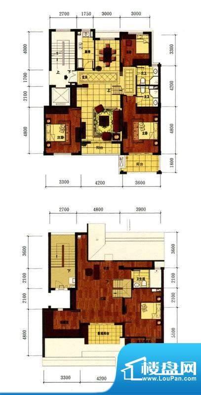 罗马风情城电梯花园面积:132.00m平米