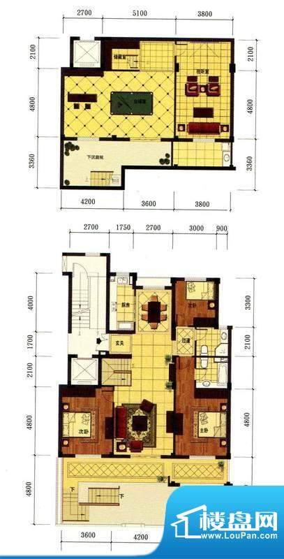 罗马风情城电梯花园面积:206.00m平米