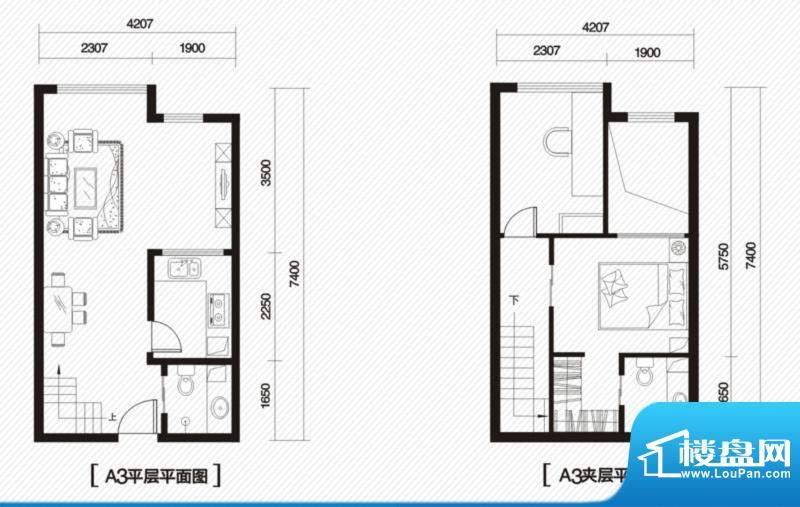 内大翡翠城9#楼A-3户面积:100.00m平米