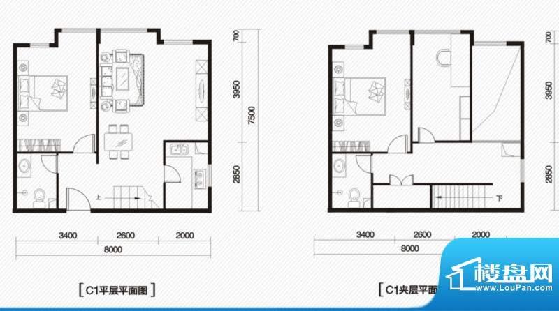 内大翡翠城5#楼C-1户面积:135.00m平米