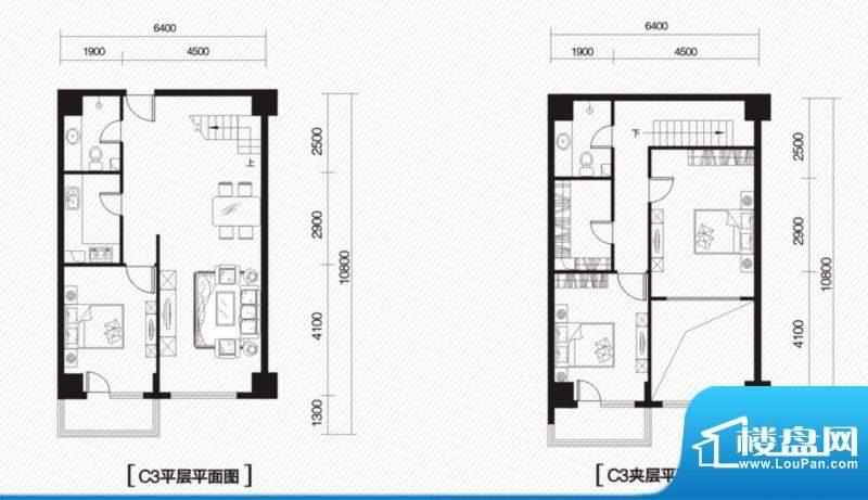内大翡翠城5#楼C-3户面积:150.00m平米