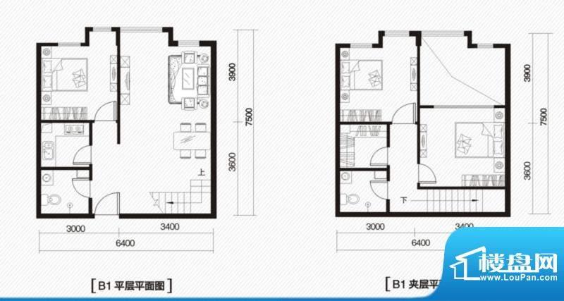 内大翡翠城1#楼B-1户面积:100.00m平米