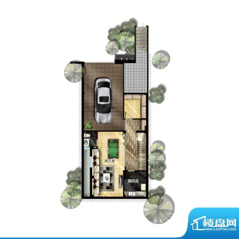 升华璞墅M户型二层3面积:329.00m平米